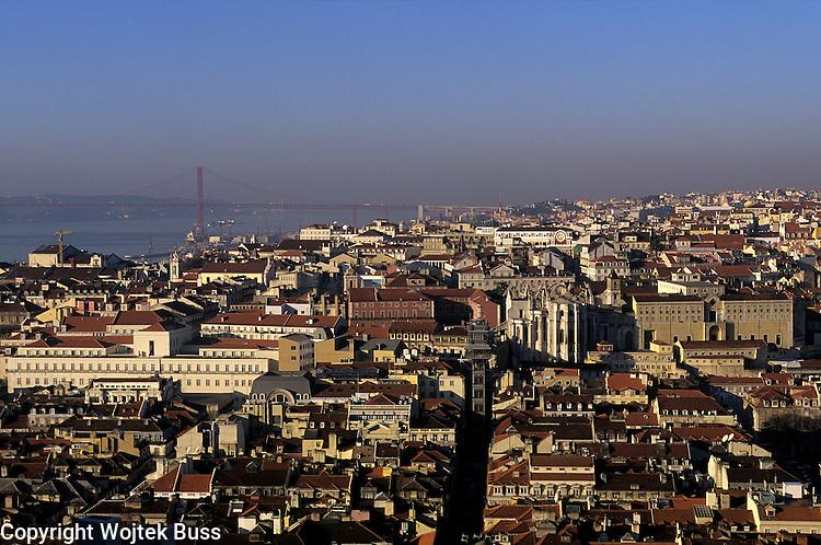 Portugal,Lisbon,View from the  Castelo Sao Jorge,Baixa and Chiado District