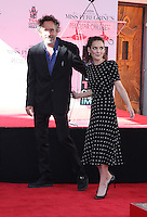 HOLLYWOOD, CA - SEPTEMBER 08: Director Tim Burton honored with a Hand and Footprint Ceremony at TCL Chinese Theatre IMAX on September 8, 2016 in Hollywood, California. (Credit: Parisa/MediaPunch LTD.)