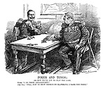 """Poker and Tongs; Or, how we've got to play the game. Kaiser. """"I go three dreadnoughts."""" John Bull. """"Well, just to show there's no ill-feeling, I raise you three."""""""