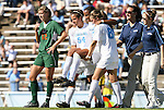 02 November 2008: North Carolina's Jessica McDonald is carried off of the field by Casey Nogueira (54) and Courtney Jones (84). The University of North Carolina Tar Heels defeated the University of Miami Hurricanes 1-0 at Fetzer Field in Chapel Hill, North Carolina in an NCAA Division I Women's college soccer game.