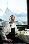 Chef Jason Porter of Seven Glaciers Restaurant, Alyeska Resort, Girdwood, Alaska.