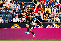 Daniel Cruz (44) of the Philadelphia Union. The Philadelphia Union and the Seattle Sounders played to a 2-2 tie during a Major League Soccer (MLS) match at PPL Park in Chester, PA, on May 4, 2013.