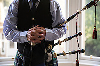 Glasgow. Il suonatore di cornamusa Keith Marshall<br />