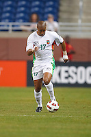 Guadeloupe midfielder Cedric Collet (17) during the CONCACAF soccer match between Panama and Guadeloupe at Ford Field Detroit, Michigan.