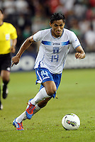 Andy Najar (14) Honduras in action... Mexico defeated Honduras 2-1 after extra time to win the CONCACAF Olympic qualifying trophy at LIVESTRONG Sporting Park, Kansas City, Kansas.