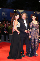 VENICE, ITALY - SEPTEMBER 09: Sloboda Micalovic, Emir Kusturica, Monica Bellucci attends the premiere of 'On The Milky Road' during the 73rd Venice Film Festival a Sala Grande on September 9, 2016 in Venice, Italy.<br /> CAP/GOL<br /> &copy;GOL/Capital Pictures /MediaPunch ***NORTH AMERICA AND SOUTH AMERICAS ONLY***