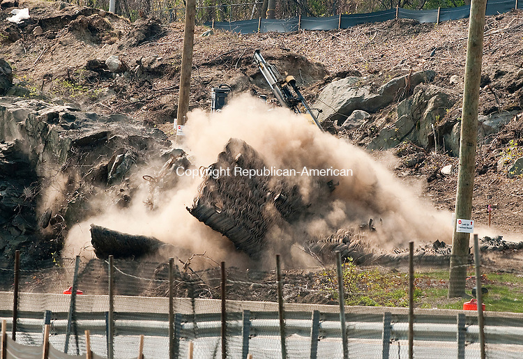 WATERBURY, CT--050515JS02- Blasting operations as part of the I-84 project began on Tuesday morning and is expect to continue until 2016. Traffic in the area is shut down for safety reasons and delays were only for about five minutes. <br />  Jim Shannon Republican-American