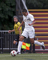Boston College forward/midfielder Diego Medina-Mendez (15) dribbles down the wing. Boston College defeated Quinnipiac, 5-0, at Newton Soccer Field, September 1, 2011.