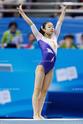 Sae Miyagawa (JPN), <br /> August 18, 2014 - Artistic Gymnastics : <br /> Girls' Individual All-Around Qualification <br /> Floor Exercise <br /> at Nanjing Olympic Sports Center  <br /> (Photo by AFLO SPORT)