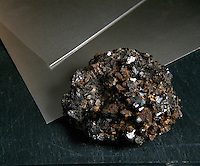 CASSITERITE (SnO2) &amp; TIN (Sn)<br /> Raw and refined materials<br /> SnO2 is the most important ore of tin. Occurrence is limited to high-temperature veins. Composition of SnO2: Tin oxide (78.6% Sn, 21.4% O); usually with some iron &amp; tantulum which substitutes the tin; Tetragonal-Ditetragonal bipyramidal.