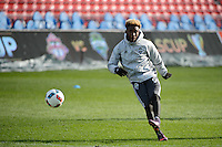Toronto, ON, Canada - Friday Dec. 09, 2016: Oniel Fisher during training prior to MLS Cup at BMO Field.