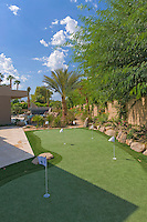Putting green of luxury home