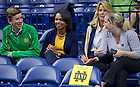Sept. 20, 2013; Former United States Secretary of State Condoleeza Rice attends the pep rally before the Michigan State game.<br /> <br /> Photo by Matt Cashore/University of Notre Dame