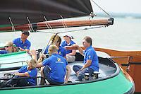ZEILEN: LEMMER: Lemster baai, 31-07-2014, SKS skûtsjesilen, Ljouwerter skûtsje, schipper Siete Meeter, ©foto Martin de Jong
