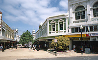 Fremantle: Pedestrian Mall, looking from Market St. to Town Hall in back.  Photo '82.