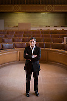 Alex Poots, Director of the Manchester International Festival, photographed at Manchester Town Hall.