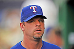 20 June 2008: Texas Rangers' starting pitcher Kevin Millwood looks out from the dugout prior to the first game of their 3-game series against the Washington Nationals at Nationals Park in Washington, DC. The Nationals rallied in the eighth to tie, and then win 4-3 in the 14th inning of their inter-league matchup...Mandatory Photo Credit: Ed Wolfstein Photo