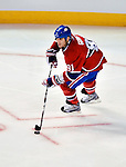 24 September 2009: Montreal Canadiens' center Scott Gomez in action against the Boston Bruins at the Bell Centre in Montreal, Quebec, Canada. The Bruins edged out the Canadiens 2-1 in an overtime shootout of their pre-season matchup. Mandatory Credit: Ed Wolfstein Photo