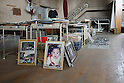 The city of Natori became famous as the live broadcast of the tsunami tearing through it was seen around the world.  A month and a half later, rebuilding is still a distant thought.  Families struggle to sort through their heavily damaged homes. In the Yuriage Elementary School gymnasium  photos recovered from the rubble wait for their owners.