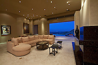 Large living room with wetbar opens to outside