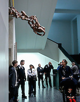 The Titanosaur, the largest dinosaur ever displayed at the American Museum of Natural History, is revealed on it's first day open to the public   in New York. 15.01.2016. Kena Betancur/VIEWpress.
