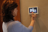 Touch Panel for easy video chatting throughout your house.
