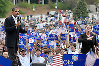 ATLANTA, GA - April 14, 2007:  United States Senator and Democratic Presidential candidate Barack Obama speaking at Georgia Tech in Atlanta, Georgia, April 14, 2007.