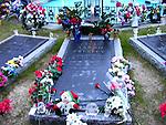 Elvis Presley grave at Graceland.