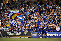 Wizards players celebrate the opening goal with their fans...Kansas City Wizards defeated Toronto FC 1-0 at Community America Ballpark, Kansas City, Kansas,