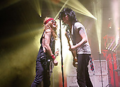 SUM 41 - Deryck Whibley and Jason McCaslin wearing wigs - performing live at the Academy Brixton in London UK - 02 Mar 2017.  Photo credit: Paul Harries/IconicPix
