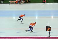 SPEED SKATING: HAMAR: Vikingskipet, 05-03-2017, ISU World Championship Allround, 10.000m Men, Patrick Roest (NED), Sven Kramer (NED), ©photo Martin de Jong