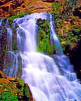 Thunder River, Grand Canyon National Park, Arizona  Large waterfall spring high on canyon walls