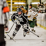 13 November 2015: Providence College Friar Forward Blair Parent, a Sophomore from Blaine, MN, in action against the University of Vermont Catamounts at Gutterson Fieldhouse in Burlington, Vermont. The Lady Friars defeated the Lady Cats 4-1 in Hockey East play. Mandatory Credit: Ed Wolfstein Photo *** RAW (NEF) Image File Available ***