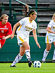 14 October 2010: University of Vermont Catamount defender Haleigh Gill, a Sophomore from South Burlington, VT, in action against the University of Hartford Hawks at Centennial Field in Burlington, Vermont. The Hawks defeated the Lady Cats 6-2 in America East play. Mandatory Credit: Ed Wolfstein Photo
