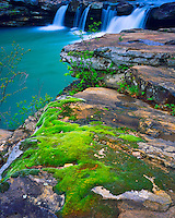 Falling Water Falls, Ozark National Forest, .Ozark Mountains, Richland Creek Wilderness, Arkansas