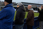 City of Liverpool 6 Holker Old Boys 1, 10/12/2016. Delta Taxis Stadium, North West Counties League Division One. Home supporters watching the first-half action at the Delta Taxis Stadium, Bootle, Merseyside as City of Liverpool hosted Holker Old Boys in a North West Counties League division one match. Founded in 2015, and aiming to be the premier non-League club in Liverpool, City were admitted to the League at the start of the 2016-17 season and were using Bootle FC's ground for home matches. A 6-1 victory over their visitors took 'the Purps' to the top of the division, in a match watched by 483 spectators. Photo by Colin McPherson.