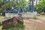 Puerto Limon, Costa Rcia, Parque Vargas, Sculpture Honoring The Development Of Limon