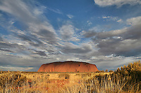 Sep 17, 2008 - Yulara, Northern Territory, Australia - Uluru, also referred to as Ayers Rock, is a large sandstone rock formation in the southern part of the Northern Territory, central Australia. It lies 335 km (208 mi) south west of the nearest large town, Alice Springs; 450 km (280 mi) by road. Kata Tjuta (The Olgas) and Uluru are the two major features of the Uluru - Kata Tjuta National Park. Uluru is sacred to the Pitjantjatjara and Yankunytjatjara, the Aboriginal people of the area. It has many springs, waterholes, rock caves and ancient paintings. Uluru is listed as a World Heritage Site.  (Credit Image: © Marianna Day Massey/ZUMA Press)