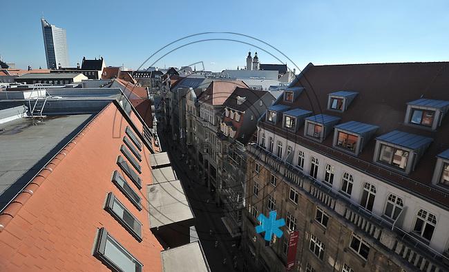 Hotel de Pologne in der Hainstraße während der aufwändigen Sanierung durch die Stadtbau GmbH - Technikleiter Hannes Koefer (49) zeigt BILD exklusiv die Räumlichkeiten, die bald wieder als Tagungs-, Büro- und Veranstaltungsräume genutzt werden sollen.  Foto: Norman Rembarz