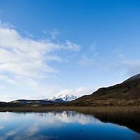 Autumn reflection of Bla Bheinn - Blaven in Loch Cill Chriosd, Isle of Skye, Scotland