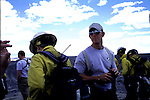 Wyoming Hotshots.  Greybull, Wyoming.  U.S. Forest Service Wildland Hotshot firefighters --the most elite resource for suppression of wildfire in the United States --during their pre-season training weeks.