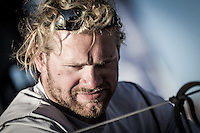 BRAZIL, Itajai. 6th April 2012. Volvo Ocean Race. Michi Mueller, Bowman, Puma Ocean Racing Powered by BERG.