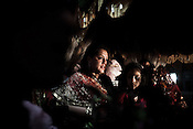 A young Nepalese woman is seen at a traditional wedding in capital Kathmandu, Nepal