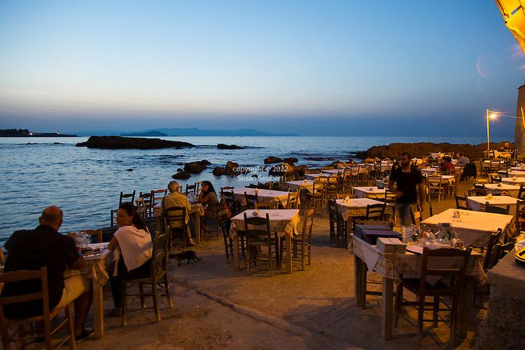 Restaurant Thalassino Ageri in Chania, Crete, Greece, Europe