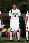 26 August 2016: Wake Forest's Alex Knox. The Wake Forest University Demon Deacons hosted the Saint Louis University Billikens in a 2016 NCAA Division I Men's Soccer match. SLU won the game 1-0.