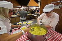 Castelfranco Emilia, Festa di San Nicola - Sagra del Tortellino (Tortellini Festival).<br /> Preparation of Tortellini.