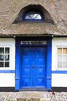 Quaint thatched cottage home in Troense, Tasinge Island off Svendborg, of South Funen Archipelago, Denmark