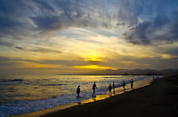 Santa Monica Beach amid the sunset on Monday, May 27, 2013.