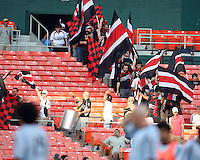 Barra Brava fan club of D.C. United enter the stadium during an MLS match against the Colorado Rapids on May 15 2010, at RFK Stadium in Washington D.C. Colorado won 1-0.