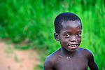A boy in Dofu, an area in northern Malawi which has been hit hard by drought and hunger.